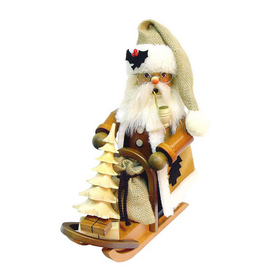 Alexander Taron 1-Piece Christian Ulbricht Tabletop Santa on Sled Incense Burner Indoor Christmas Decoration