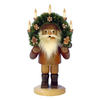 Alexander Taron Wood Santa with Candle Arch Natural Smoker Ornament