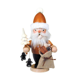 Alexander Taron Wood Smini Santa with Trea and Bag Of Presents Ornament