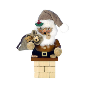 Alexander Taron Wood Santa Chimney Natural Smoker Ornament