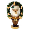 Alexander Taron Wood Santa Arch Natural Smoker Ornament