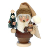 Alexander Taron Wood Mini Santa Natural Smoker Ornament