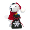Alexander Taron Wood Mini Santa Polar Bear Smoker Ornament