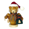 Alexander Taron Wood Santa Bear Smoker Ornament