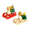 Alexander Taron Wood Angel On Sleigh Hanging Ornament