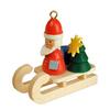 Alexander Taron Wood Santa Sled Ornament