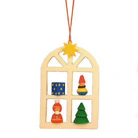 Alexander Taron Wood Advent Window Ornament
