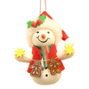 Alexander Taron Santa Snowman with Gingerbread Cookies Ornament
