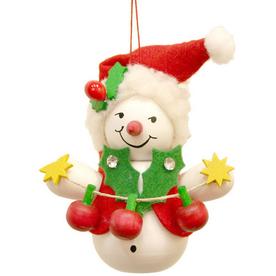 Alexander Taron Santa Snowman Ornament