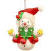 Alexander Taron Santa Snowman Ornament