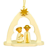 Alexander Taron Wood Holy Family Arch Ornament