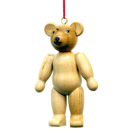 Alexander Taron Wood Teddy Bear Ornament