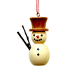 Alexander Taron Wood Natural Snowman Ornament