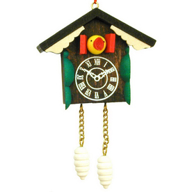 Alexander Taron Wood Cuckoo Clock Ornament
