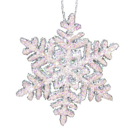 Alexander Taron Large Snowflakes with Sparkles Ornament
