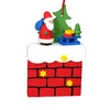 Alexander Taron Wood Chimney with Santa Christmas Ornament