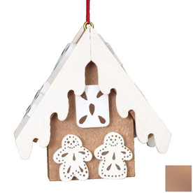 Alexander Taron Brown Wood Gingerbread Ornament