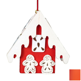 Alexander Taron Red Wood Gingerbread Ornament