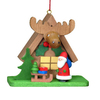 Alexander Taron Wood House Santa Ornament