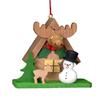 Alexander Taron Wood Snowman Elk Ornament
