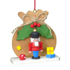 Alexander Taron Wood Brown Sack Nutcracker Ornament