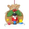 Alexander Taron Wood Brown Sack Nutcracker Ornament