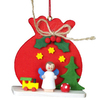 Alexander Taron Wood Red Sack Angel Ornament
