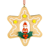 Alexander Taron Wood Star Santa Ornament