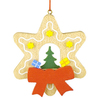 Alexander Taron Wood Star Gifts Tree Ornament