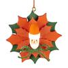 Alexander Taron Poinsettia Santa Ornament