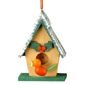 Alexander Taron Wood Bird House Ornament