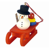 Alexander Taron Plastic Snowman Sled Ornament