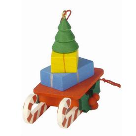 Alexander Taron Plastic Toy Tree Sled Ornament