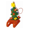 Alexander Taron Sled with Christmas Tree Ornament