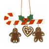 Alexander Taron Plastic Candy Cane Gingerbread Ornament