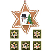 Alexander Taron Wood Assorted Star Ornament