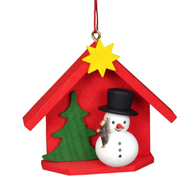 Alexander Taron House with Snowman Ornament