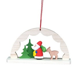 Alexander Taron Wood Santa Tree Ornament