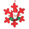 Alexander Taron Red Snowflake with Santa Ornament