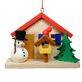Alexander Taron Wood Snowman House Ornament