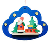 Alexander Taron Wood Santa In Cloud Ornament