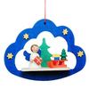 Alexander Taron Metal Angel In Cloud Ornament