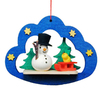 Alexander Taron Metal Snowman with Sled and Tree Ornament