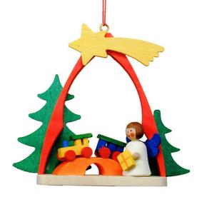 Alexander Taron Wood Angel Arch Ornament