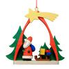 Alexander Taron Wood Santa Arch Ornament