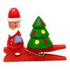 Alexander Taron Wood Santa Clip-On Ornament