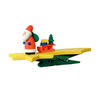 Alexander Taron Yellow Wood Santa Comet Clip-On Ornament