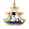 Alexander Taron Wood Snowman with Bird Ornament