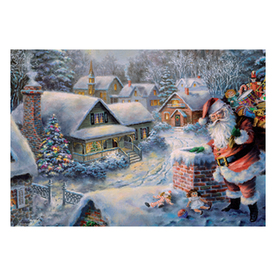 Alexander Taron Santa On Roof Advent Calendar Indoor Christmas Decoration