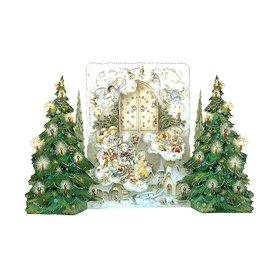 Alexander Taron Child's Christmas Advent Calendar Winter Scene Indoor Christmas Decoration
